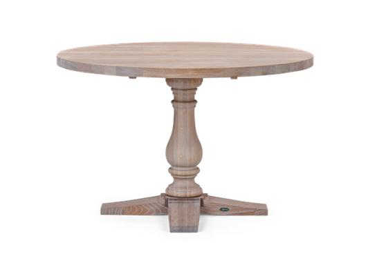 Balmoral 120 Round Table_Seasoned Oak_Front