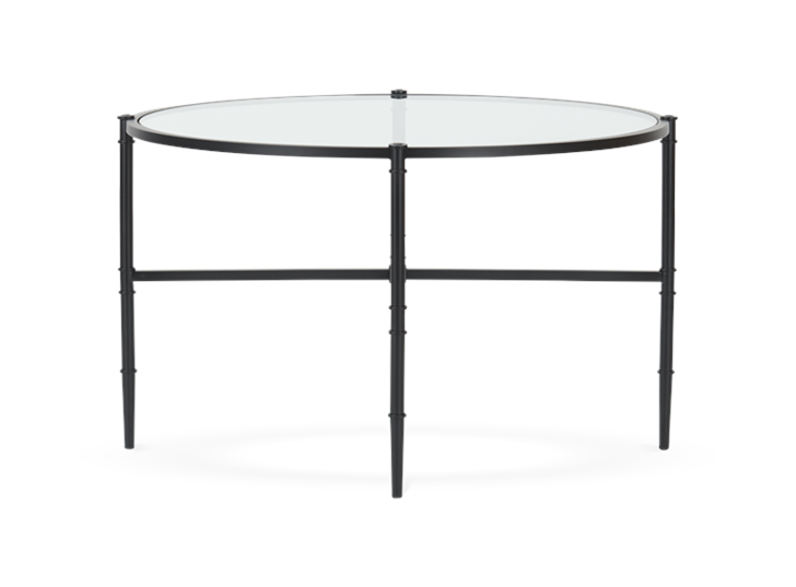 Coniston 75 Low Round Coffee Table Black Bronze_Side