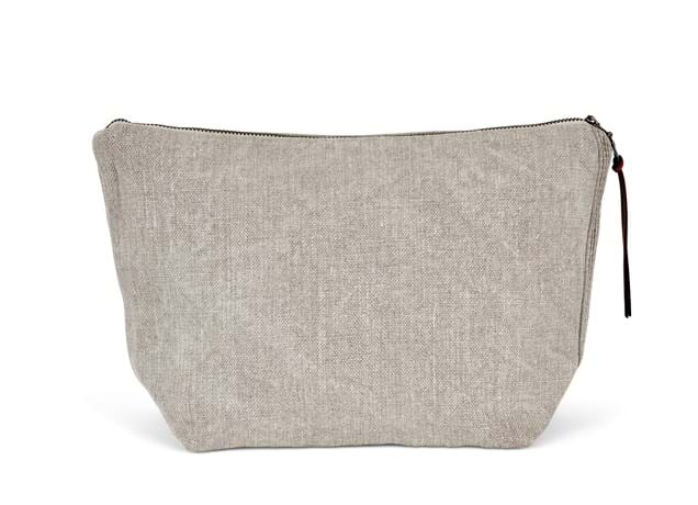 Bella linen cosmetic bag_front