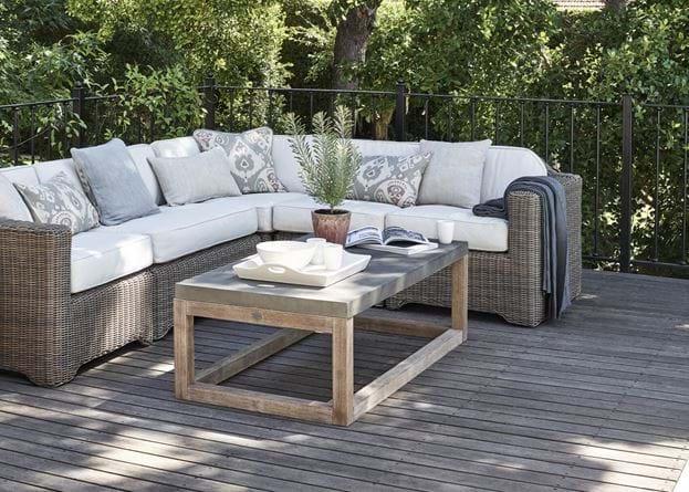 Hove Rectangular Concrete Top Coffee Table_Garden Furniture