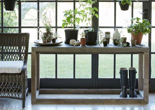 Hove Concrete Top Potting Console Table