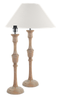 Fitzroy Large Lamp, Seasoned Oak