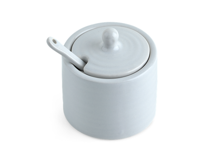 Lewes Spice Pot with Spoon Grey_Top