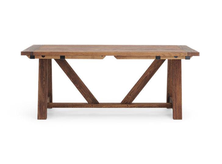 Arundel_Extending Table_Dark Oak_Front_Not Extended