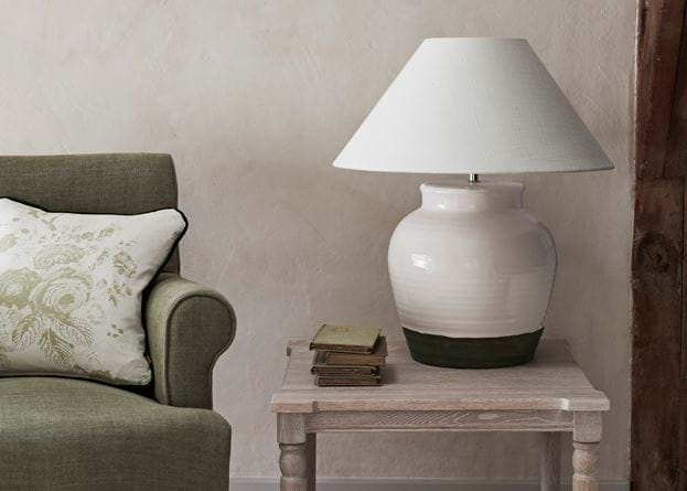 Blenheim Side Table with Corinium Medium Lamp