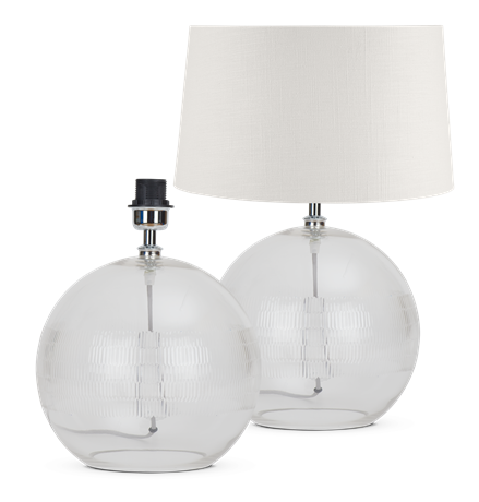 Neve Glass Lamp & Shade