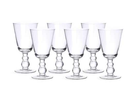 Greenwich Red Wine Glasses, set of 6