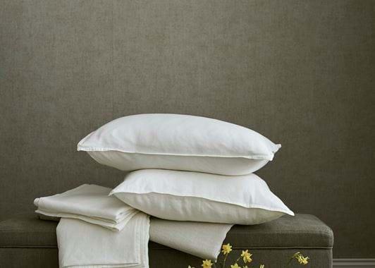 Edith King Flat Sheet - White