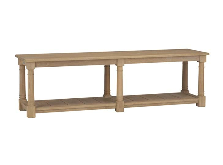 Edinburgh 160cm Bootroom Bench_Vintage Oak_3Quarter
