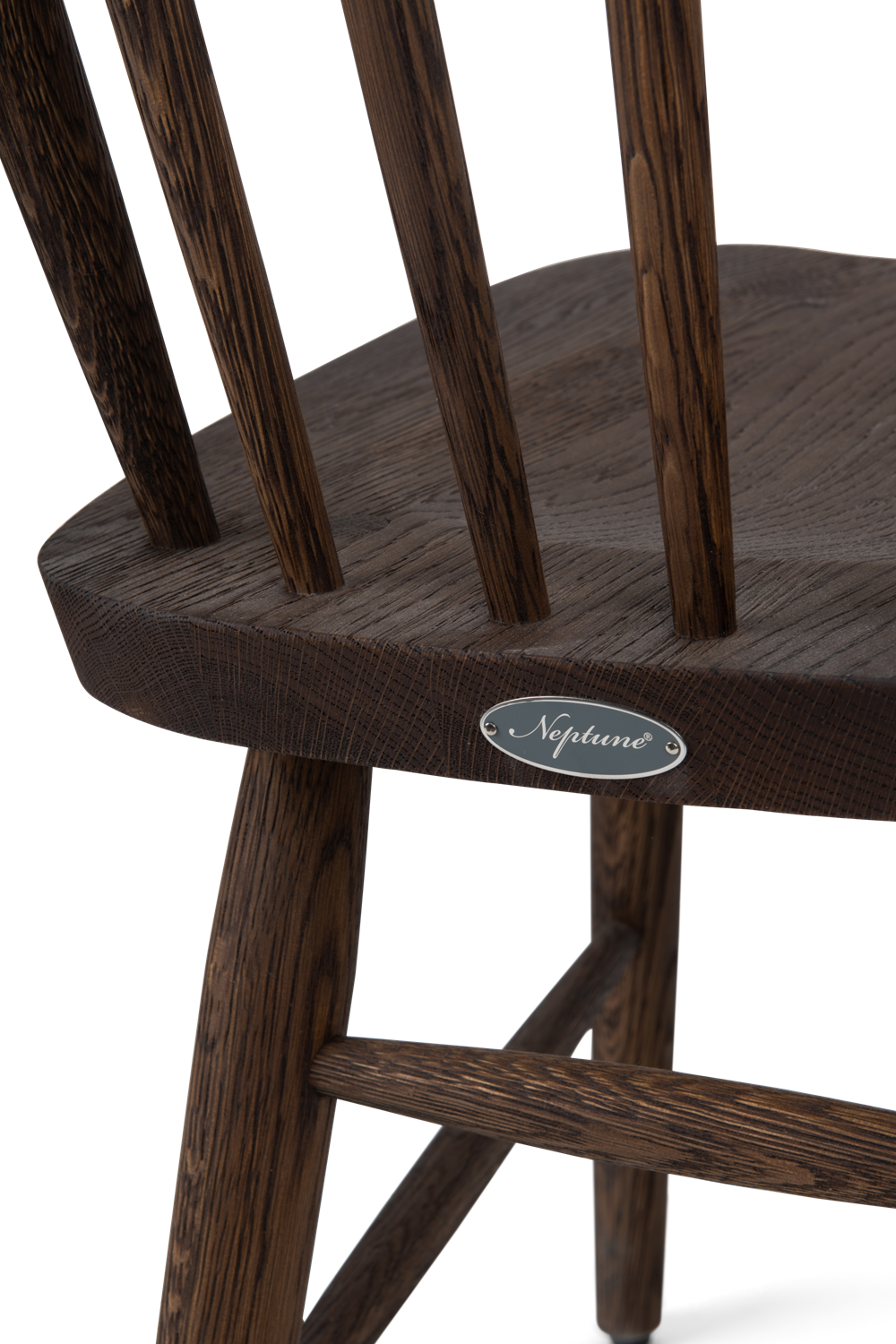 Wardley dining chair, darkened oak, detail-2 copy