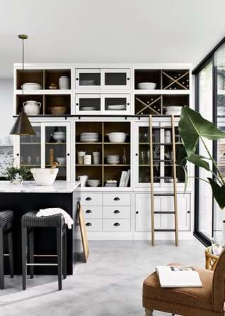Chawton kitchen with ladder