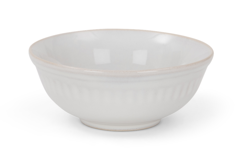 Sutton dipping bowl, off white, rim copy