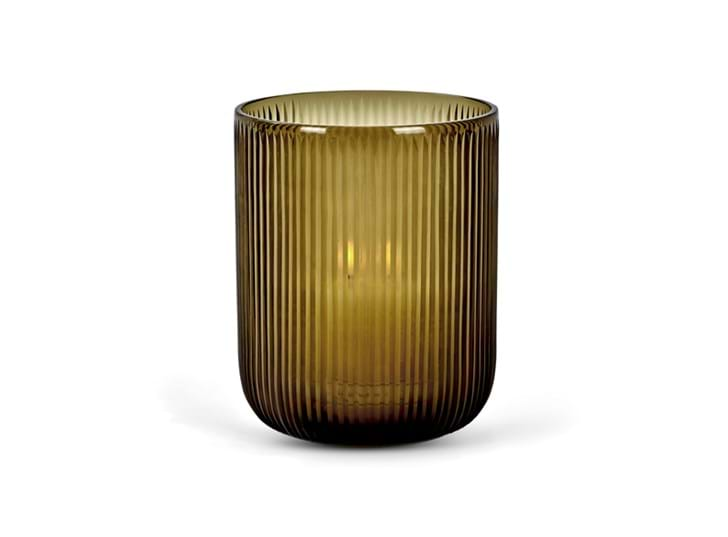 Brockley ribbed hurricane smoke_front candle on