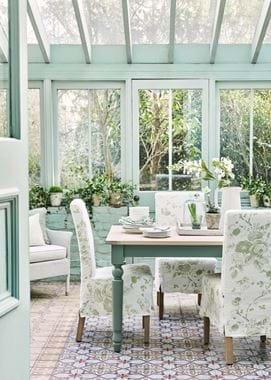 Suffolk dining greenhouse tall