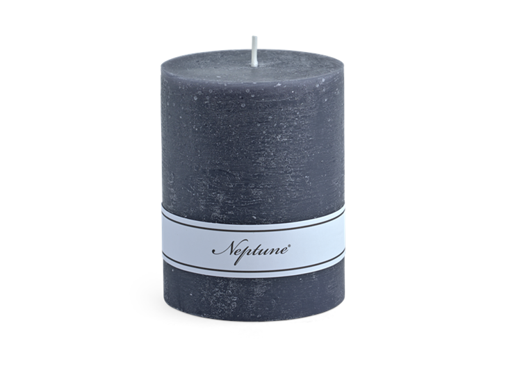 Blyton Charcoal 7x9 Pillar Candle