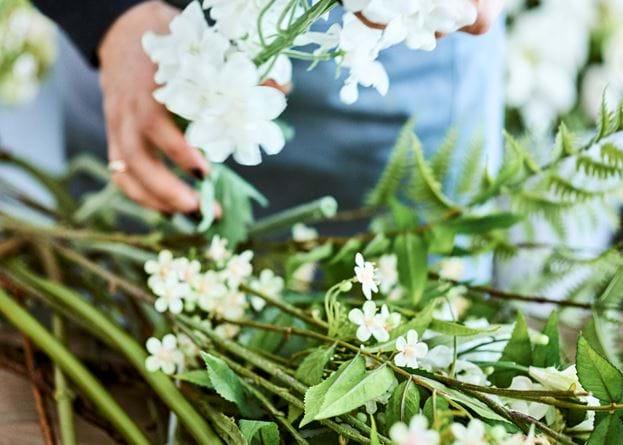 Rowan Blossom Stem - White