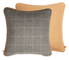 Camilla Cushion 45x45cm, Finian Mustard & Ewan Dove