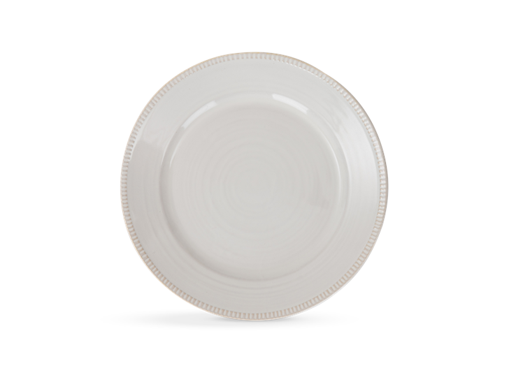 Sutton dessert plate, off white, above copy