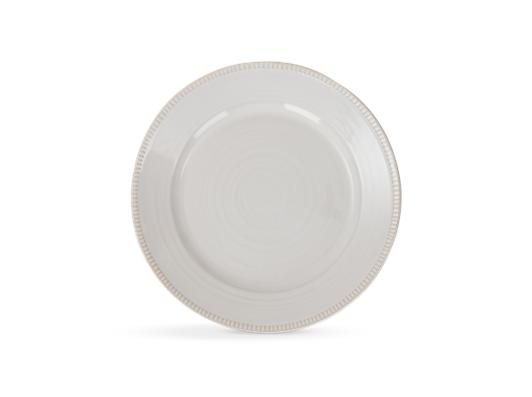 Sutton dessert plate, off white, above copy