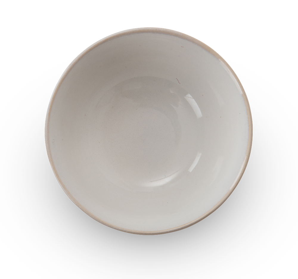 Sutton dipping bowl, off white, above copy