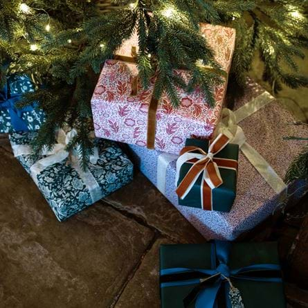 Christmas tree and pepperberry gift wrap