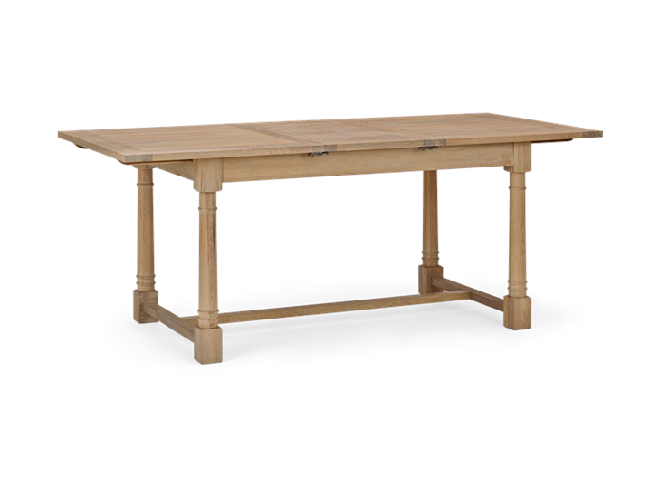 Edinburgh 150-240 Extending Table_Dark Vintage Oak_3Quarter