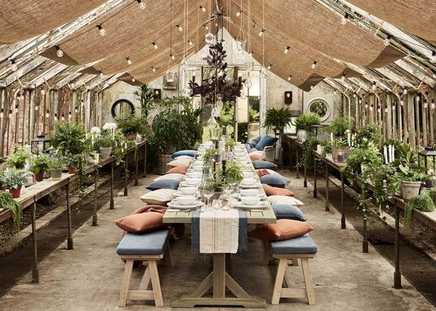 Greenhouse gathering landscape
