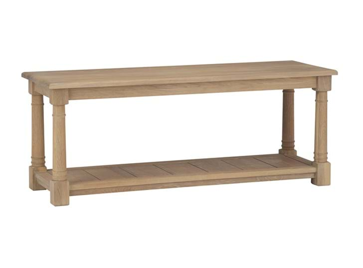 Edinburgh 120cm Bootroom Bench_Vintage Oak_3Quarter