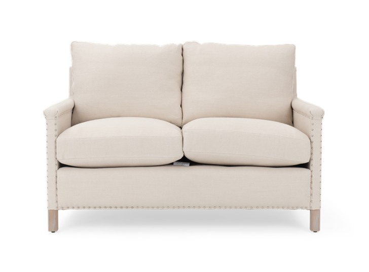 Casper 2 seater, hugo pale oak, front copy