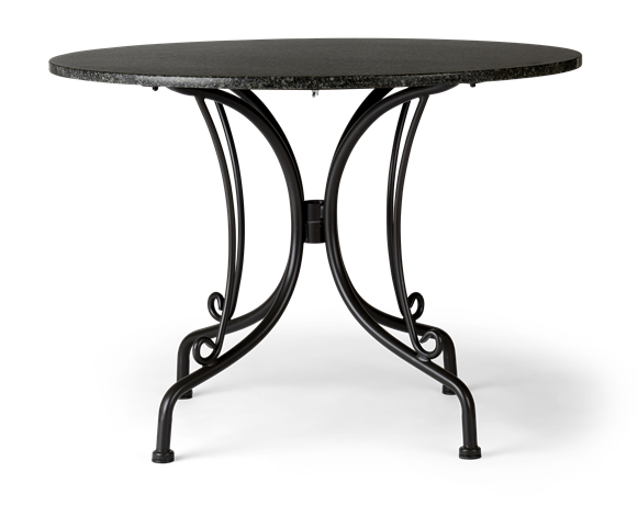 Boscombe 2 Seater Table, Black _ Granite_front