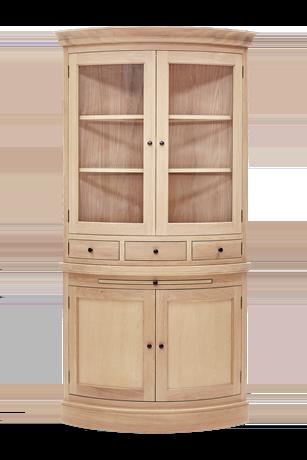 Henley Curved Oak Dresser Top Front
