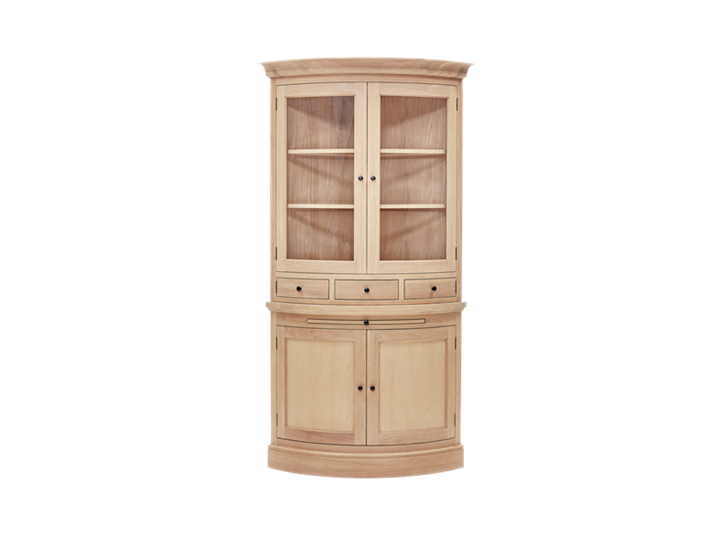 Henley Curved Oak Dresser Top Front