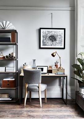 Home Office Carter Desk & Brompton Brass Lamp