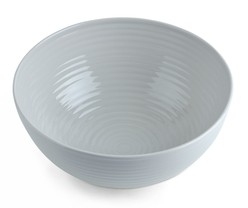 Lewes Serving Bowl Large Grey_Top