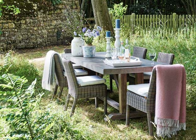 Hove Rectangular Dining Table with Toulston Dining Chairs_ Walled Garden
