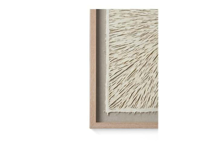 Overton paper art, square, corner