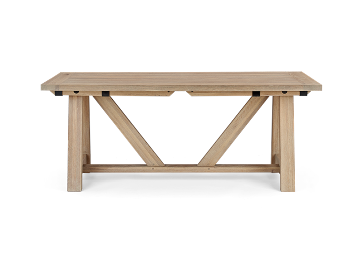 Arundel 184-274 Ext Table_Natural Oak_Front