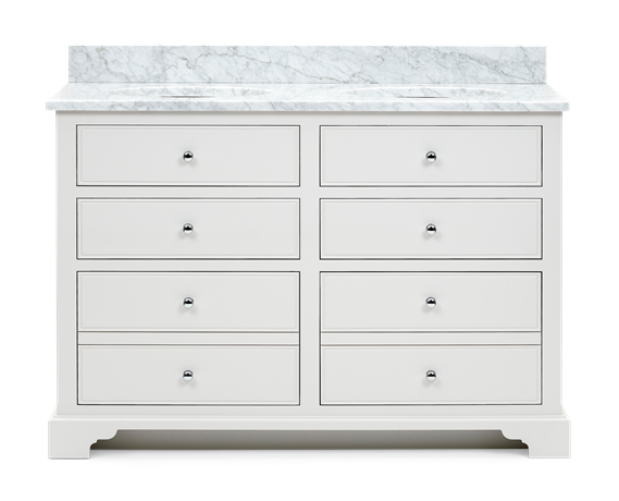 Chichester 1240 Undermount D-Drawer Washstand Only-Shell-Shell Front 1