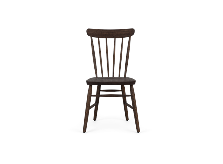 Wardley dining chair, darkened oak, front copy
