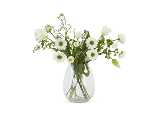 Scabosia & Tulip Bouquet with Dulwich vase