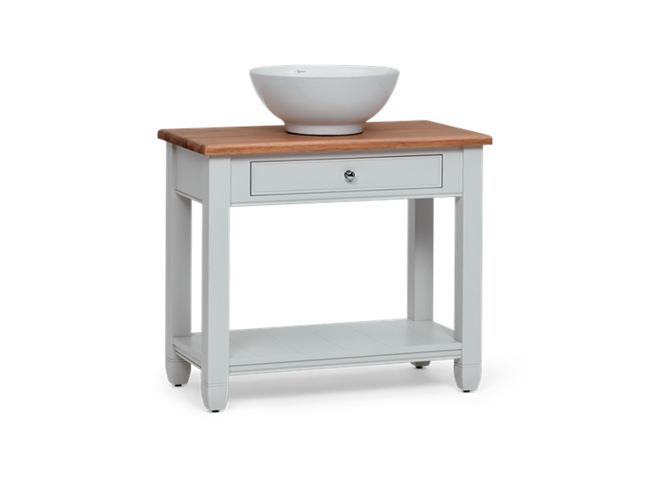Chichester 850 Oak Countertop Washstand -Shell-Shell 3Q