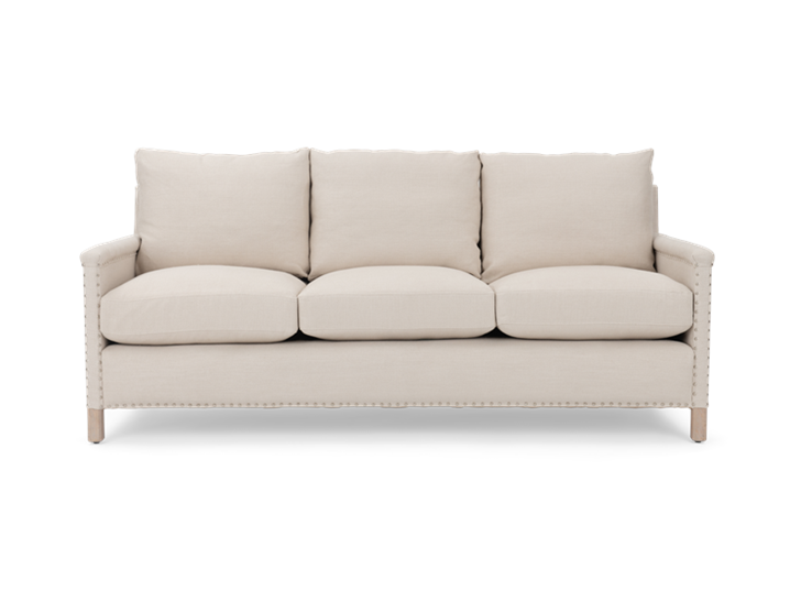 Casper 3 seater, hugo pale oak, front copy