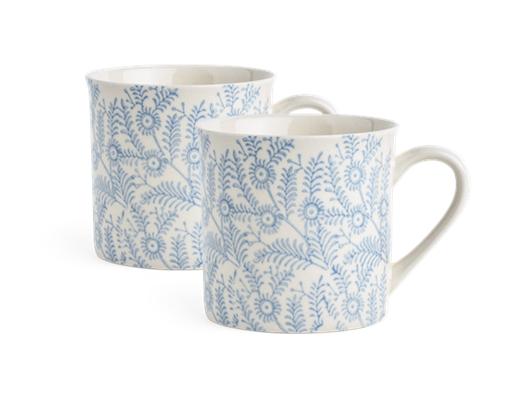 Olney Mug Set of 2 Flax Blue