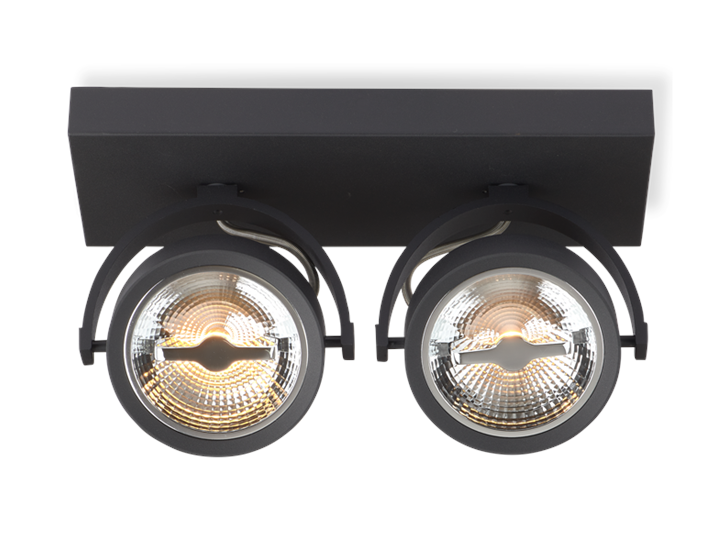 AR111 Surface Mounted Fixture Double Black 1