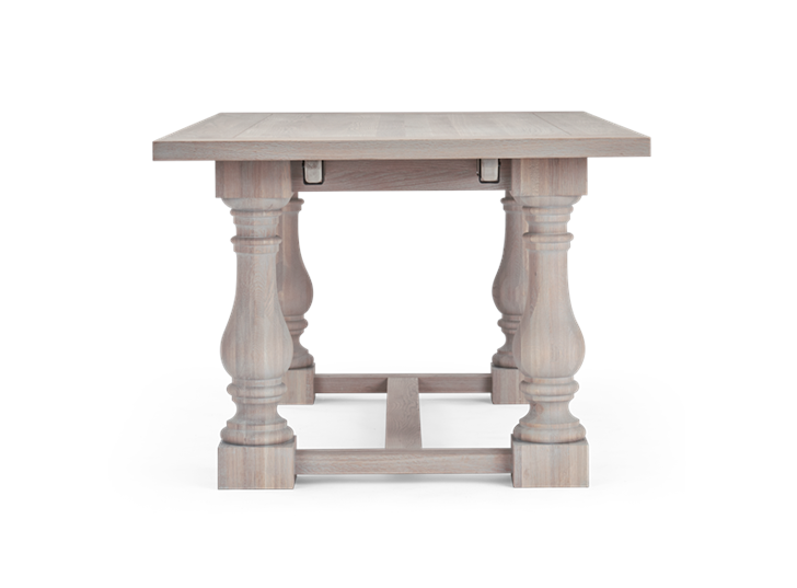 Balmoral 185-275 Extending Table_Seasoned Oak_Side