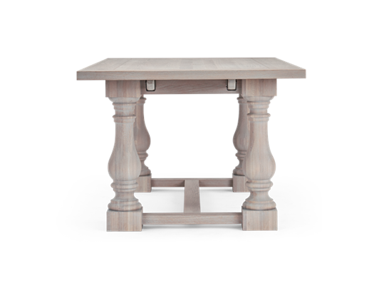 Balmoral 185-275 Extending Table_Seasoned Oak_Side