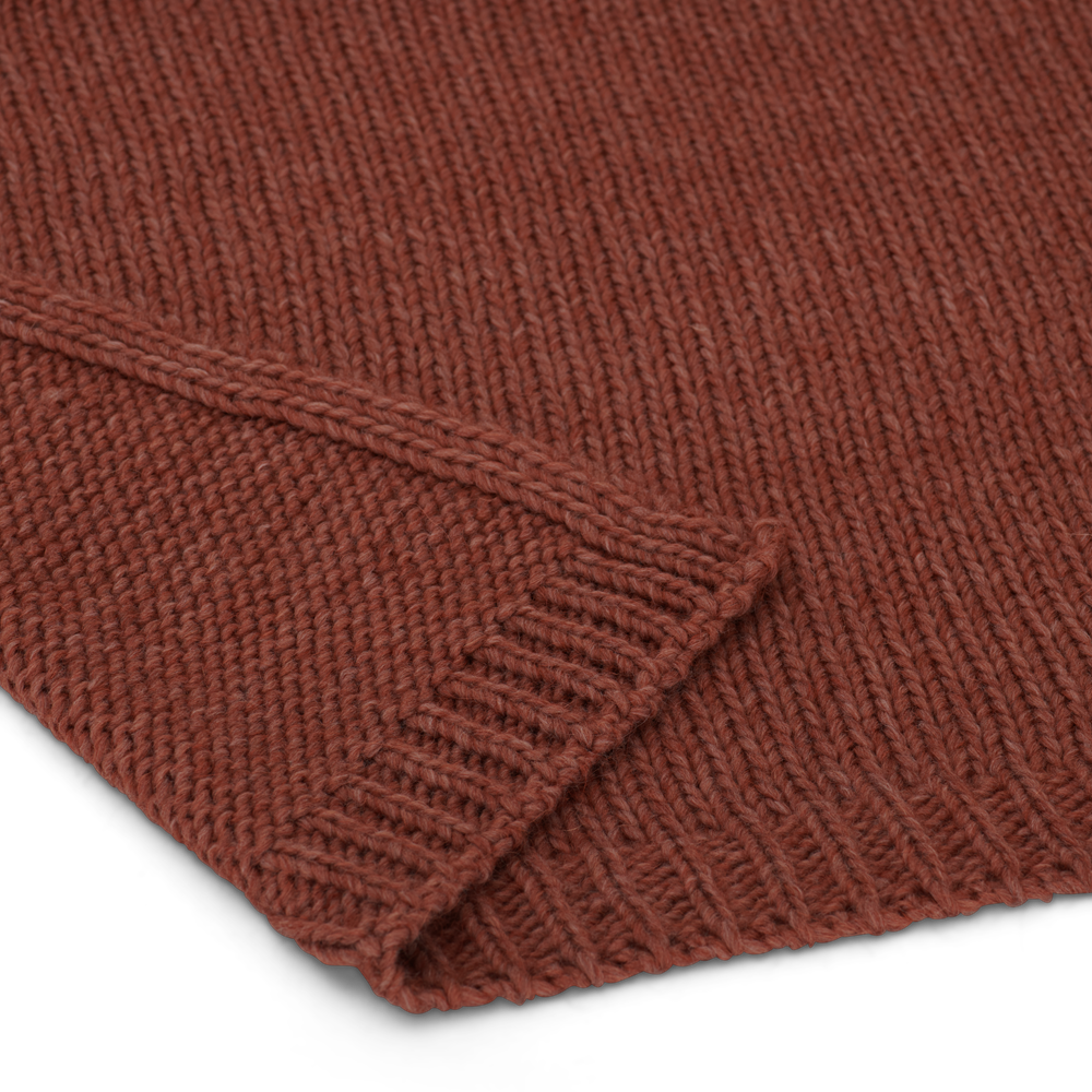 Sefton Throw Rust_Thickness Detail