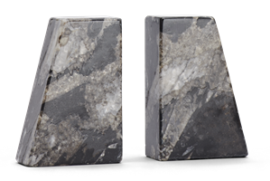 Ashford Marble Bookends, Black