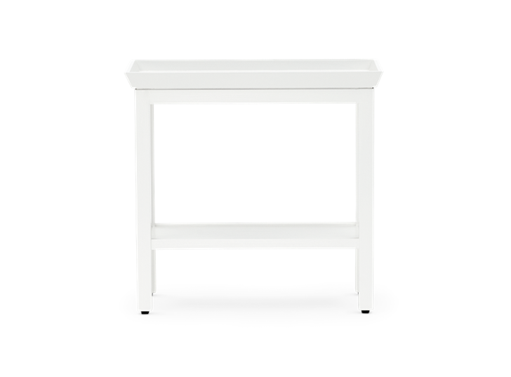Aldwych rectangular side table Snow front