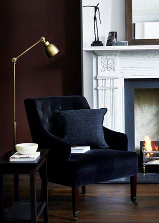 Amelia armchair Isla Swallow Juniper wallwall